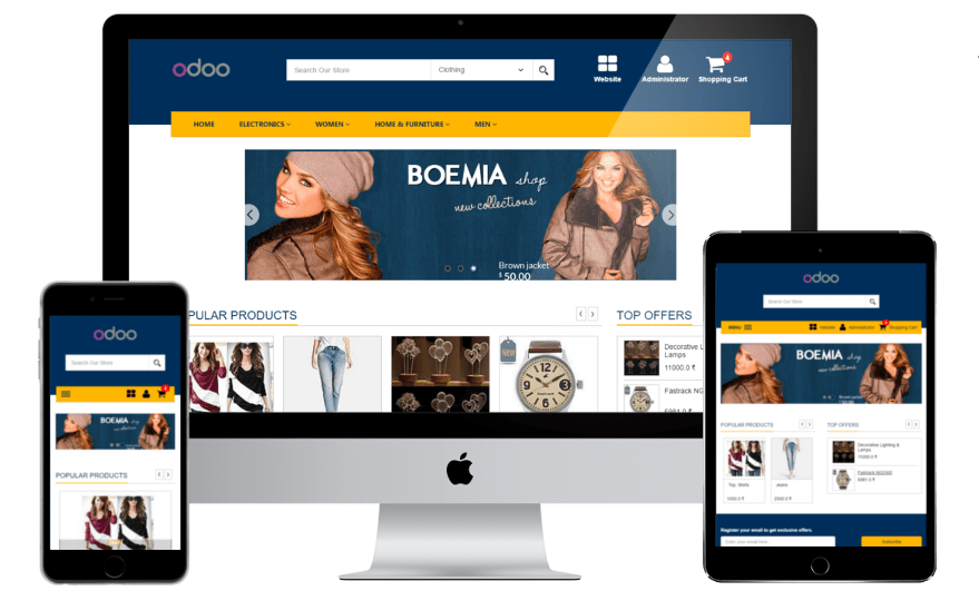 Odoo E-Commerce theme features 10
