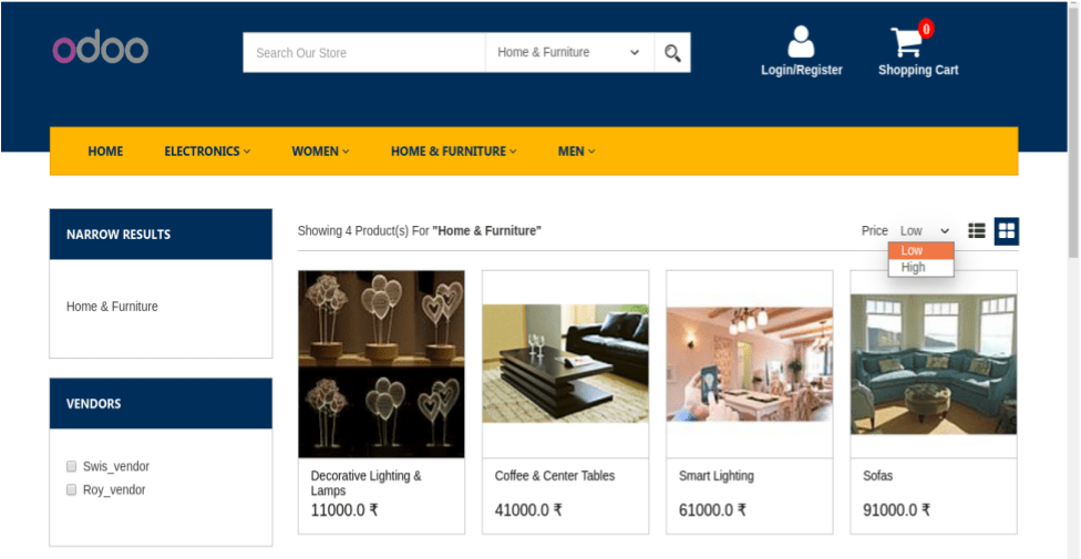 Odoo E-Commerce theme features 6