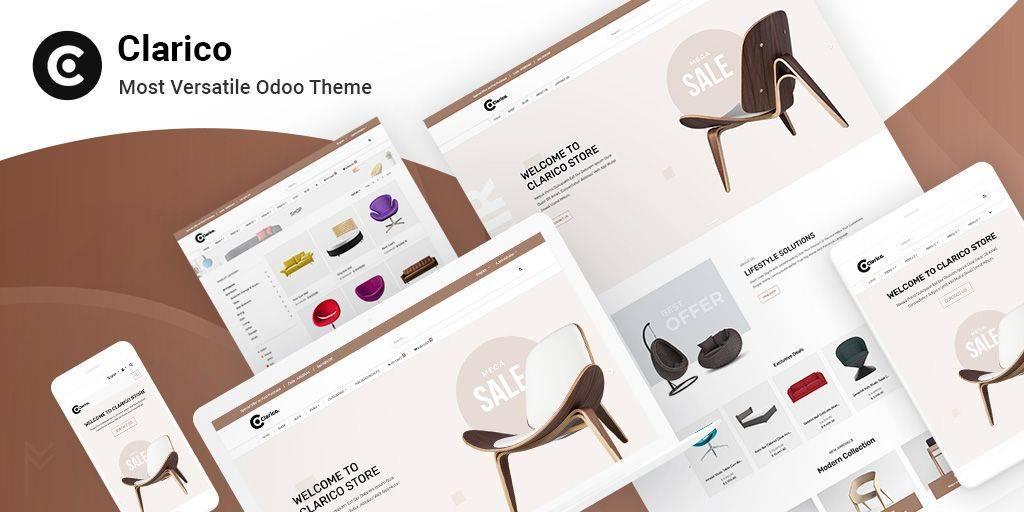 Odoo ecommerce theme – clarico- odooblogs