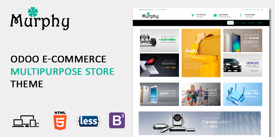 Theme Murphy Odoo eCommerce themes odoo blogs