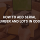 how to add serial number and lots in odoo