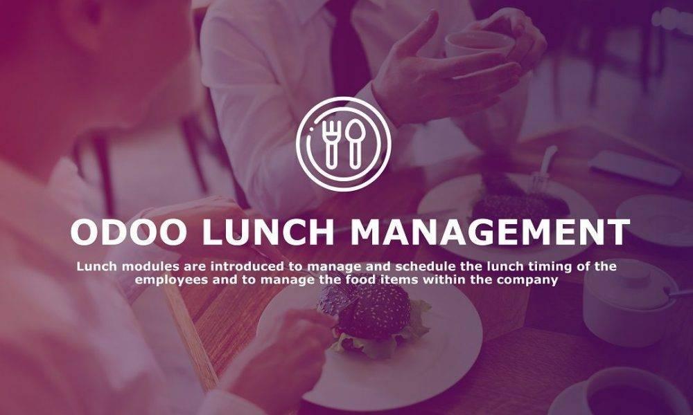 Odoo lunch module