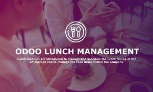 Odoo lunch module