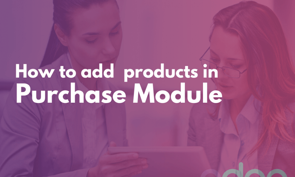add product in purchase module